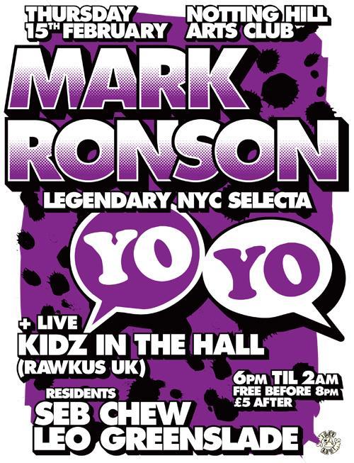 Mark Ronson poster